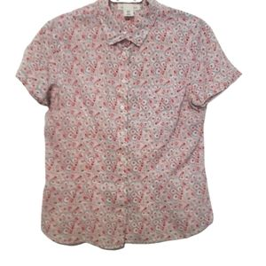 L.O.O.G  short sleeve floral blouse size 10